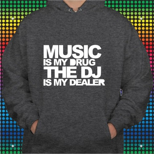 Slogan Hooded Sweat Shirts