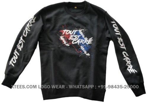 Custom design printed sweatshirts