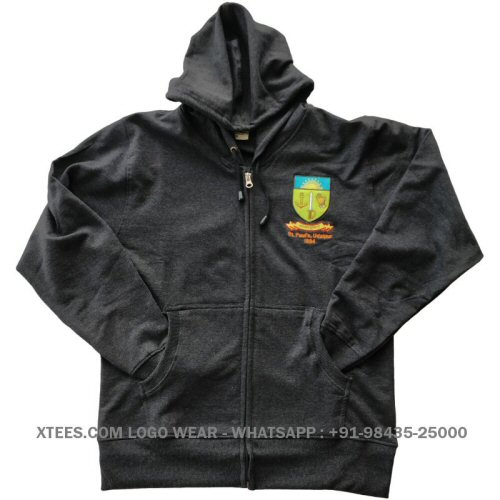 Custom logo embroidered sweatshirts
