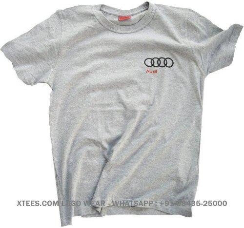 Custom logo printed round neck t-shirts