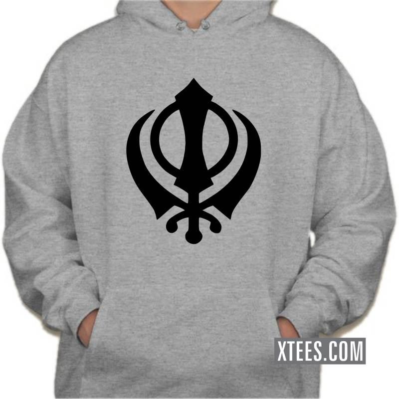 Buy Khanda Symbol Punjabi Sikh Hooded Sweat Shirts Hooded Sweat