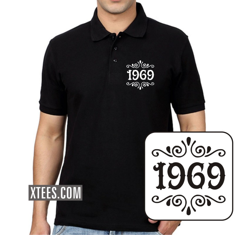 1969 Birth Year Collar Polo T-shirts image