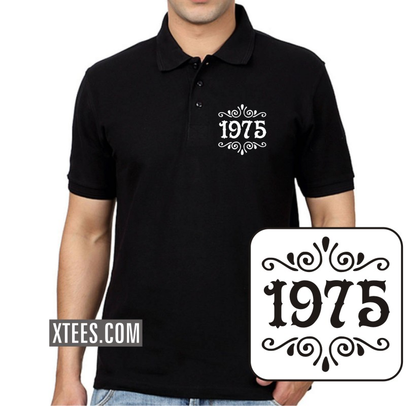 1975 Birth Year Collar Polo T-shirts image