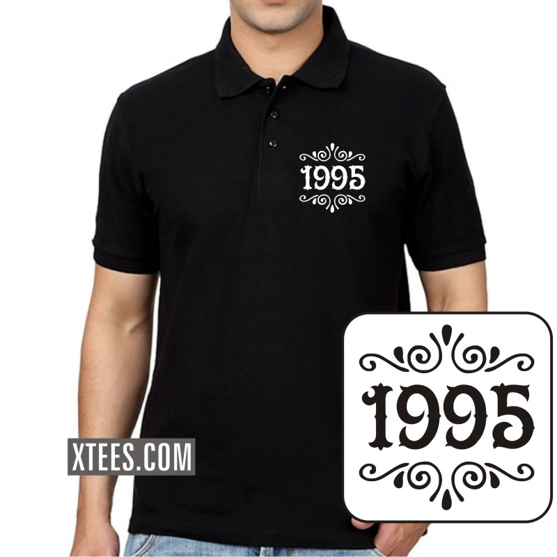 1995 Birth Year Collar Polo T-shirts image