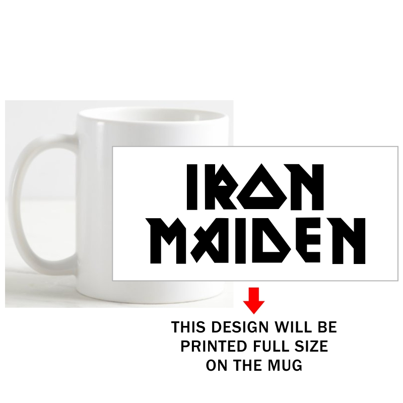 Iron Maiden Symbol Slogan Coffee Mug image