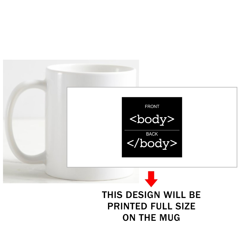 Body Html Geeks Slogan Coffee Mug image