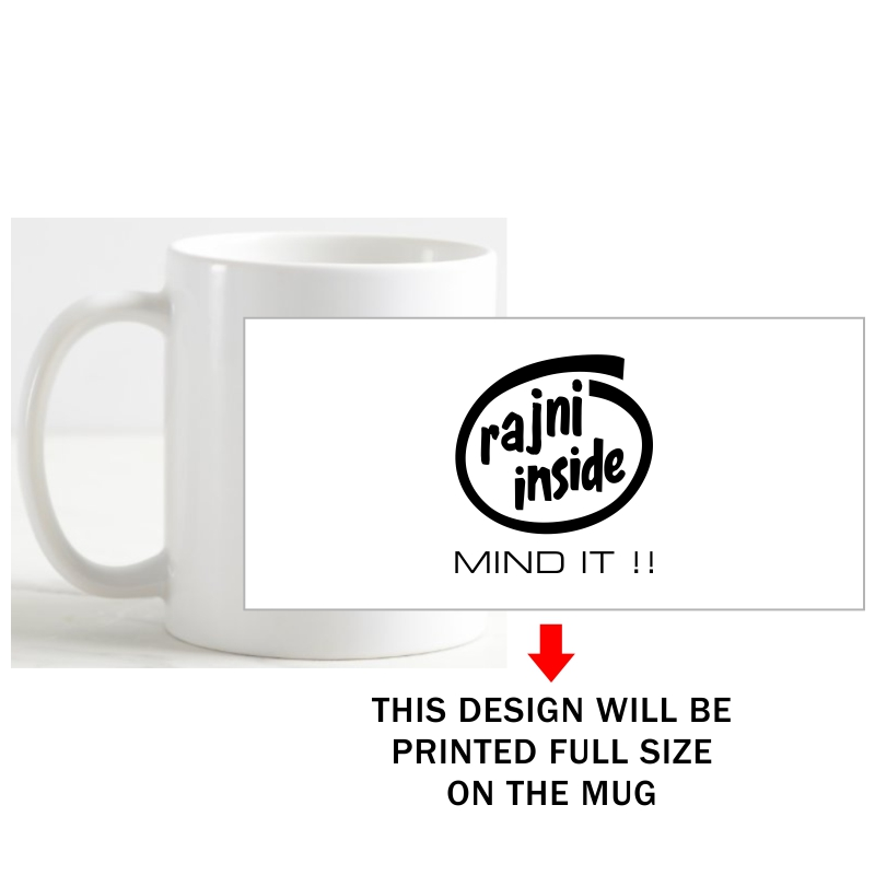 Rajni Inside Mind It Movie Star Slogan Coffee Mug image