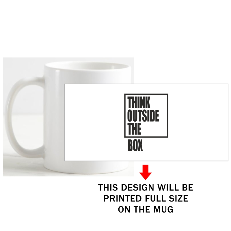 Think Outside The Box Motivational Quotes Coffee Mug image