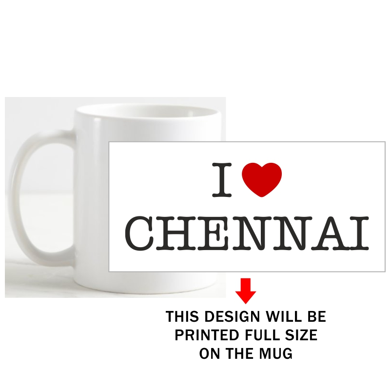 I Love Chennai Coffee Mug image