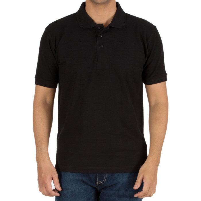 Buy Black Plain Blank Collar Polo T-Shirts for Men online India ...