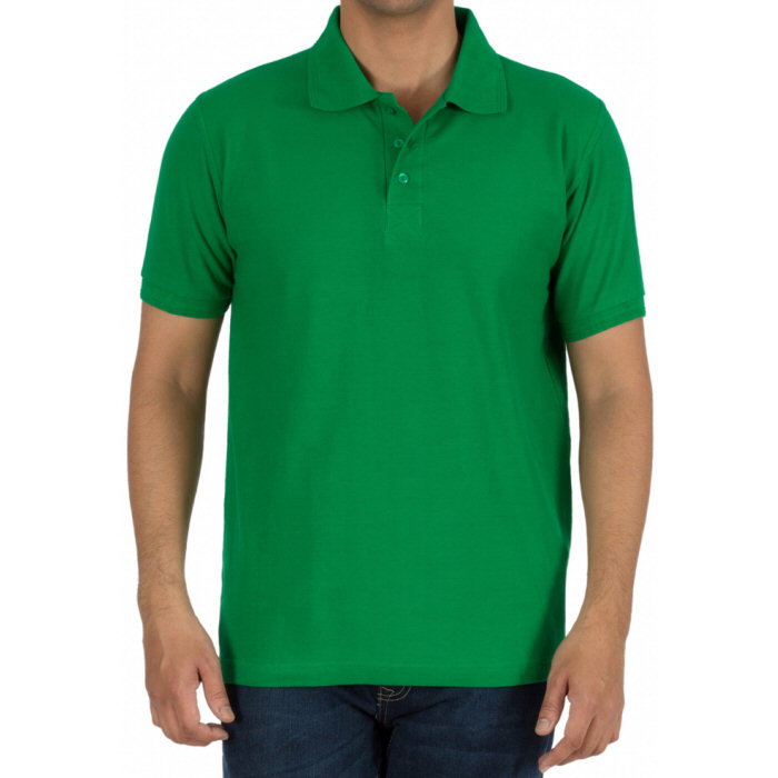 Flag Green Plain Collar Polo T-shirt image