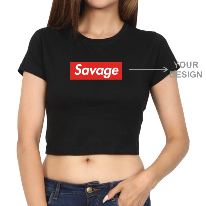 Custom Printed Women Crop Top image