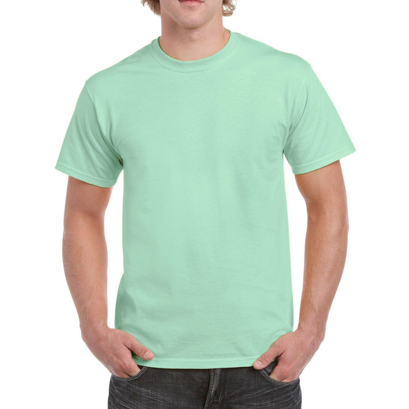 Mint Plain Round Neck T-shirt image