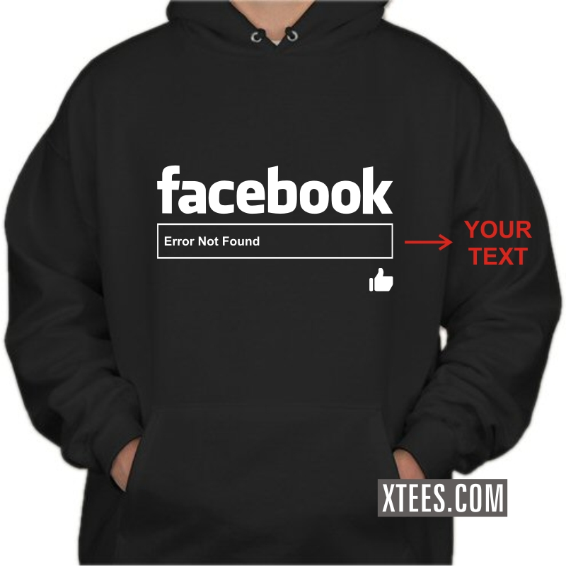 Facebook Search Box Custom Text Printed Hooded Sweat Shirt Hoodie image