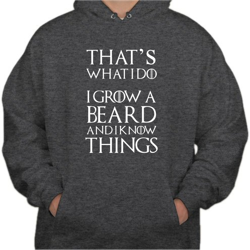 That's What I Do I Grow Beard And I Know Things Sweat Shirt image