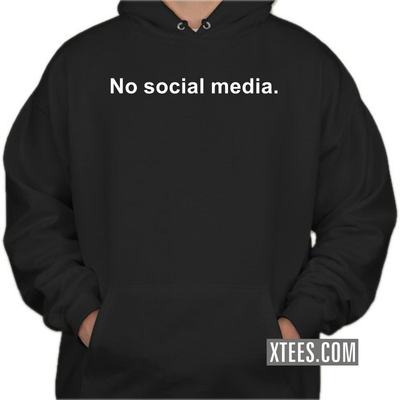 No Social Media Hooded Sweat Shirt image