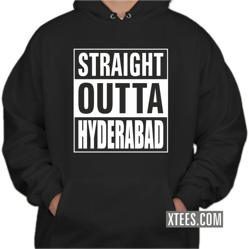 Straight Outta Hyderabad Hooded Sweat Shirt image