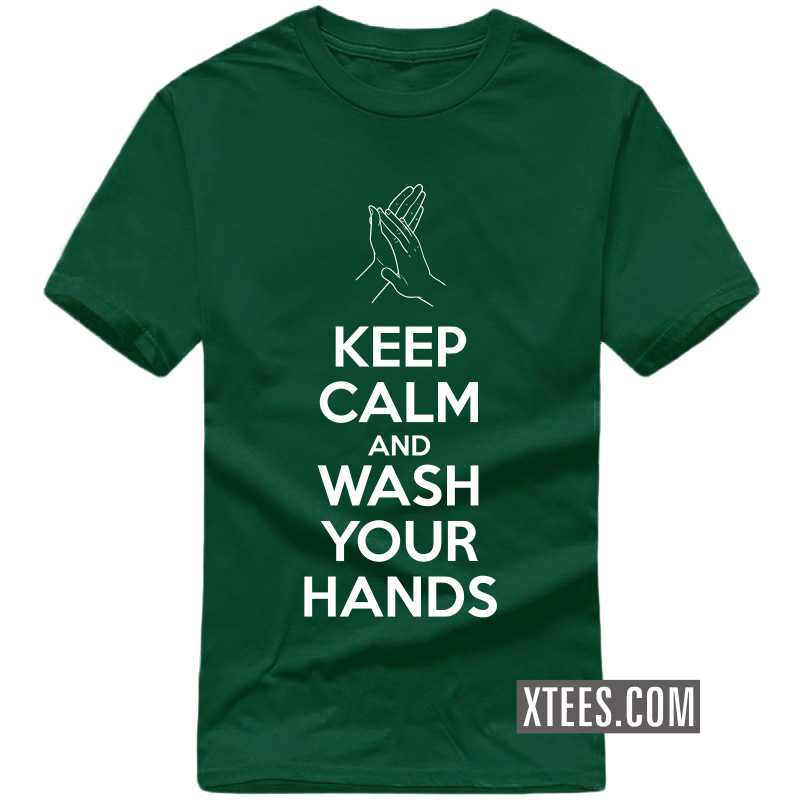 Keep Calm And Wash Your Hands T-shirt image
