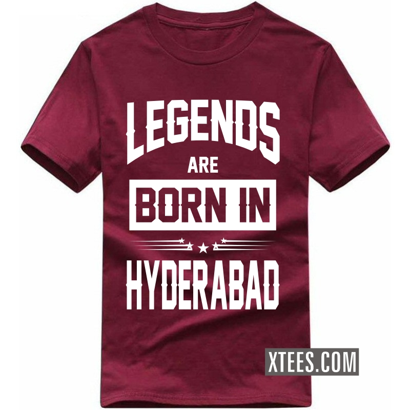 Legends Are Born In Hyderabad T Shirt image