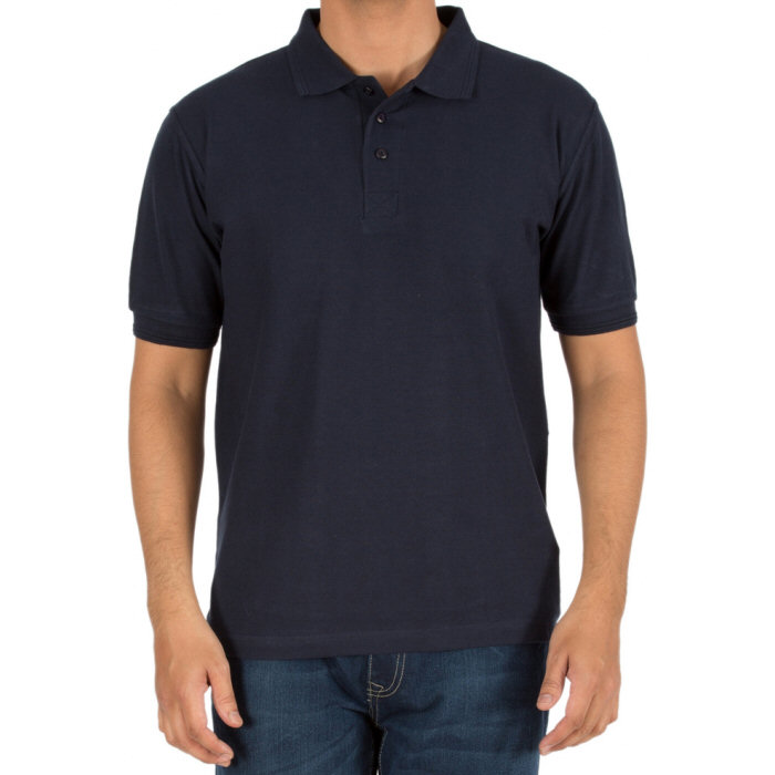 ffa98ead42e Navy Blue Plain Collar Polo 100% Cotton T-Shirt for Men