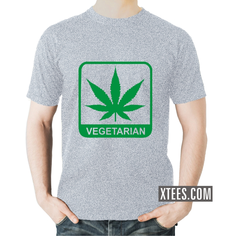Buy marijuana leaf vegetarian weed slogan t shirts online for Best place to buy t shirts online