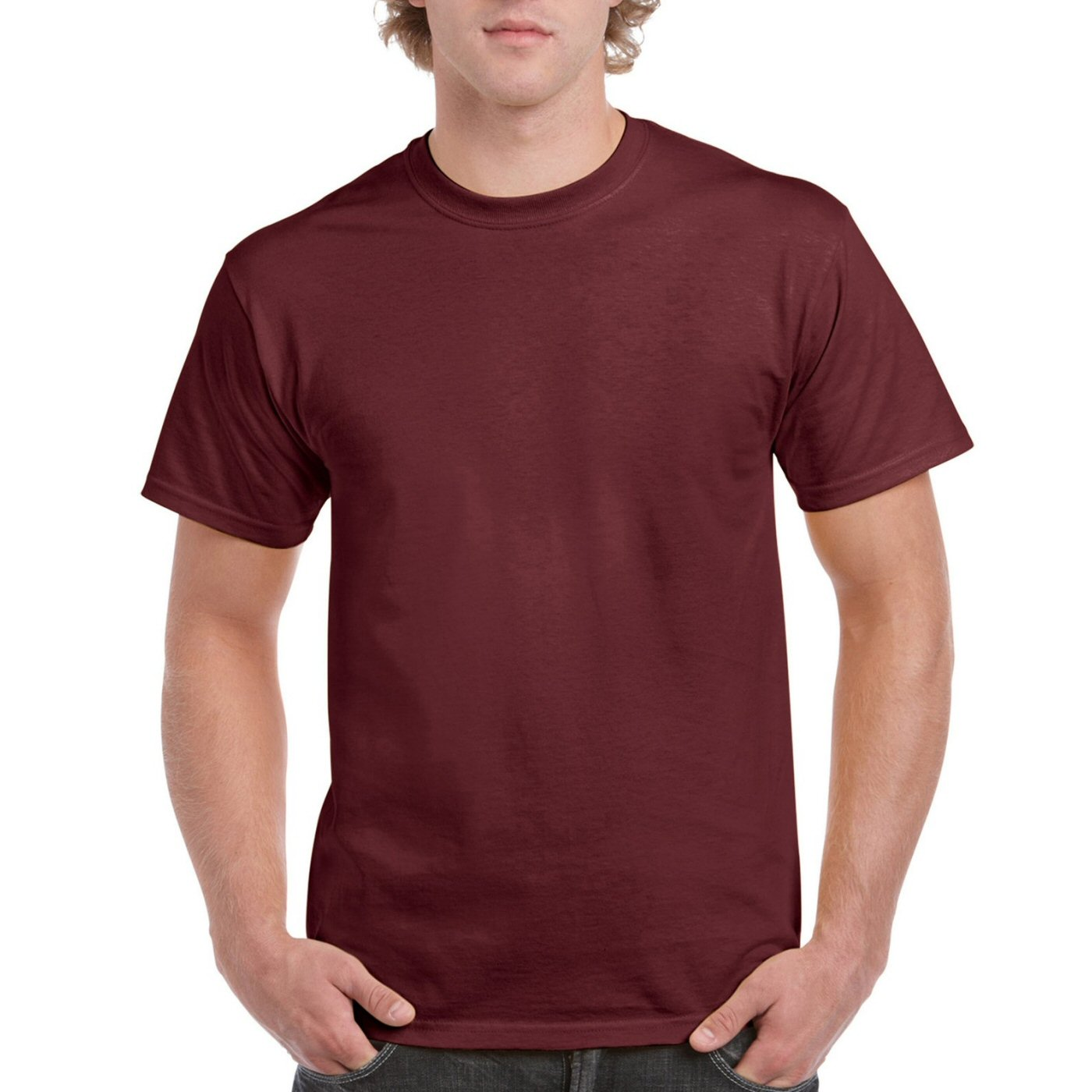 Maroon plain round neck 100 cotton t shirt for men for Maroon t shirt for men