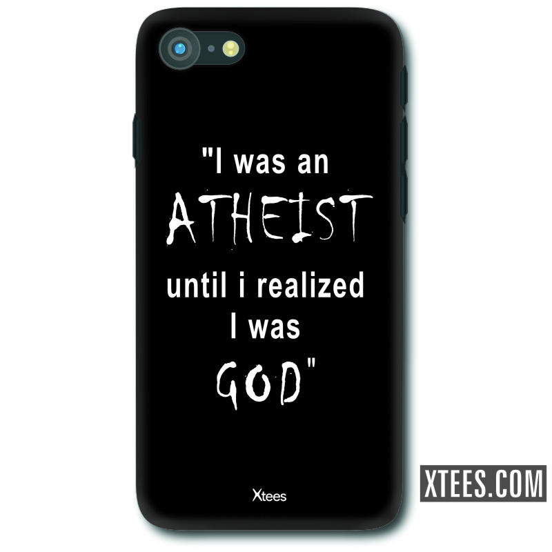 I Was An Athiest Until I Realized I Was God Funny Slogan Mobile Case image