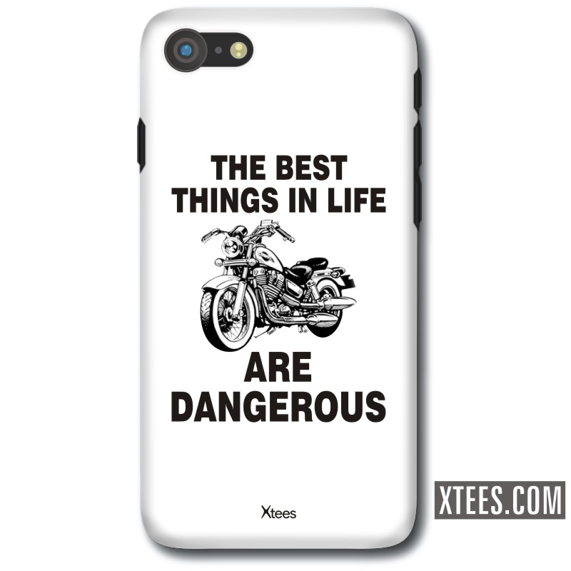 The Best Things In Life Are Dangerous Biker Slogan Mobile Case image