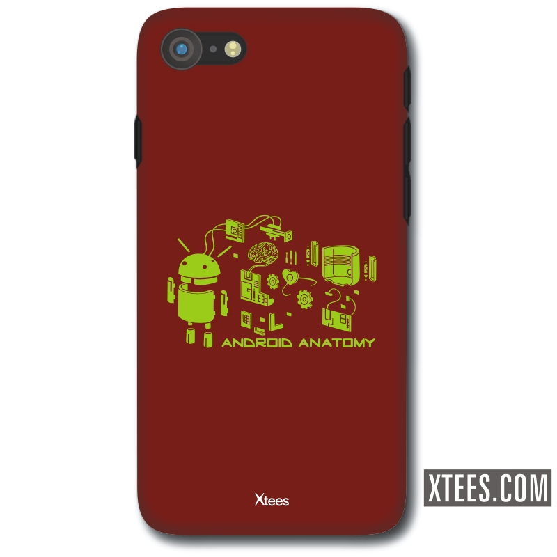 Android Anatomy Geeks Slogan Mobile Case image