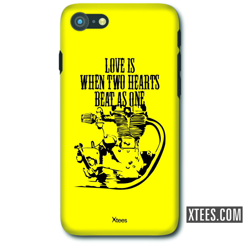 Love Is When Two Hearts Beat As One Biker Slogan Mobile Case image
