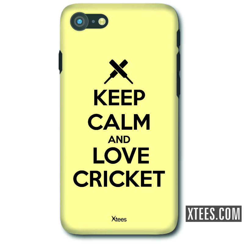 Keep Calm And Love Cricket Cricket Slogan Mobile Case image