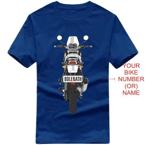Himalayan Motorcycle Custom Number Plate T-shirt image