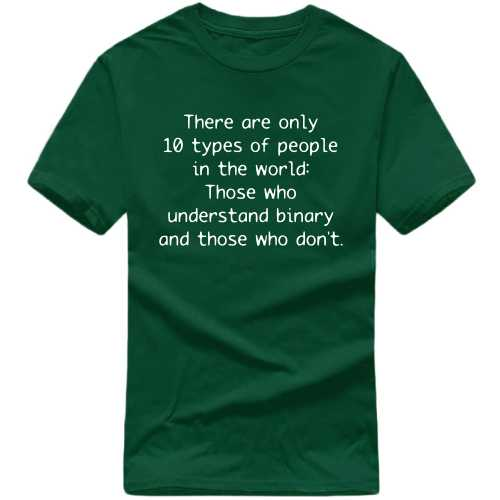 There Are Only 10 Types Of People In The World. Those Who Understand Binary And Those Who Don't Geeks Slogan T-shirts image