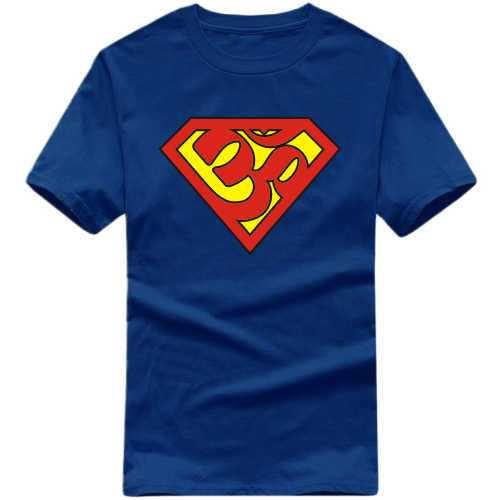 Om Superman India Patriotic Slogan  T-shirts image
