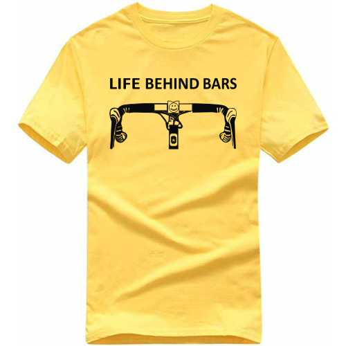 Life Behind Bars Cycling Cycling Slogan T-shirts image