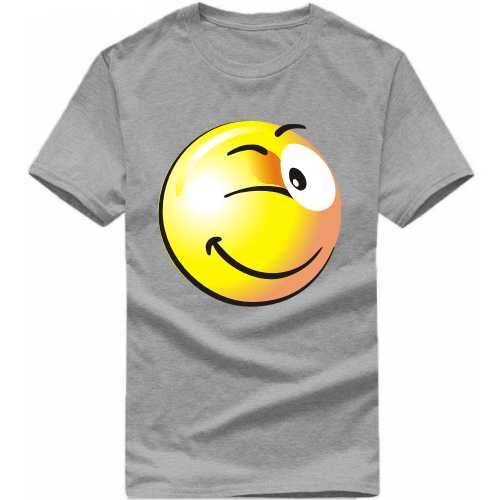 Winking Smiley Funny Slogan T-shirts image