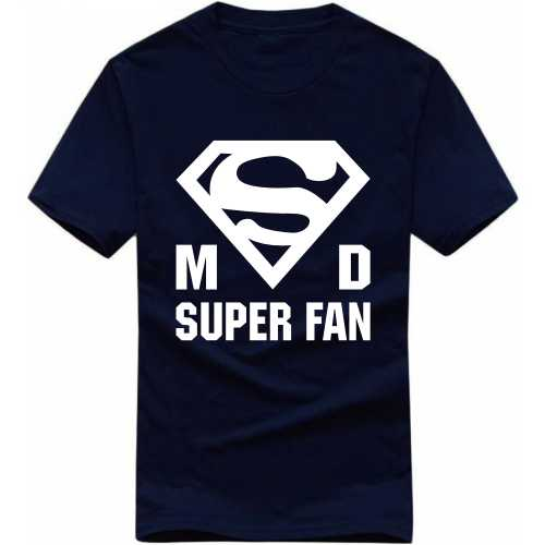 Msd Superfan Cricket Slogan T-shirts image