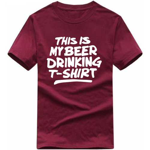 This Is My Beer Drinking T-shirt Alcohol Slogan T-shirts image