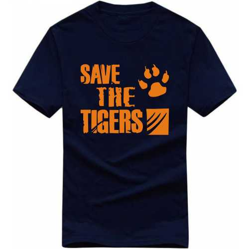 Save The Tiger Symbol Slogan T-shirts image