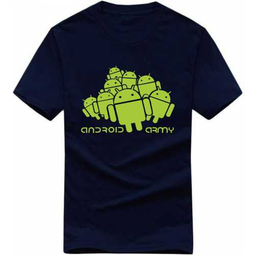 Android Army Geeks Slogan T-shirts image