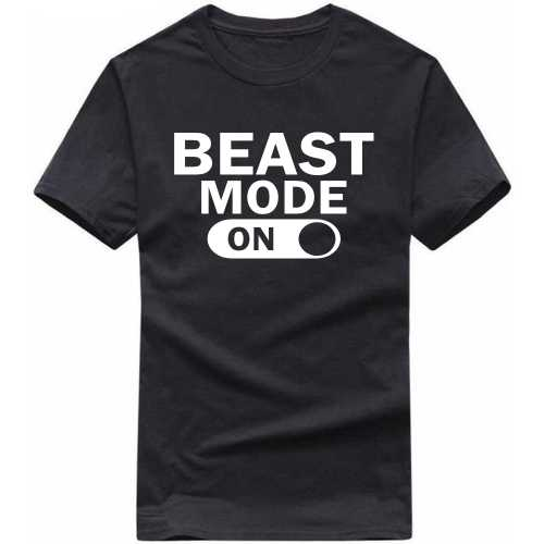 Beast Mode On Gym Motivational Slogan T-shirts image