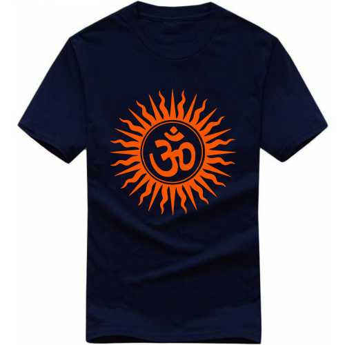 Fire Om India Patriotic Slogan  T-shirts image