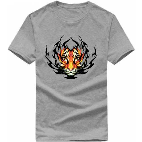 Tiger Face Symbol Slogan T-shirts image