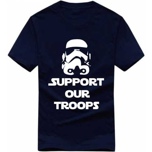 Support Our Troops India Patriotic Slogan  T-shirts image