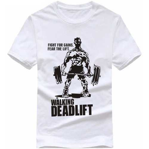 The Walking Deadlift Gym Slogan T-shirts image