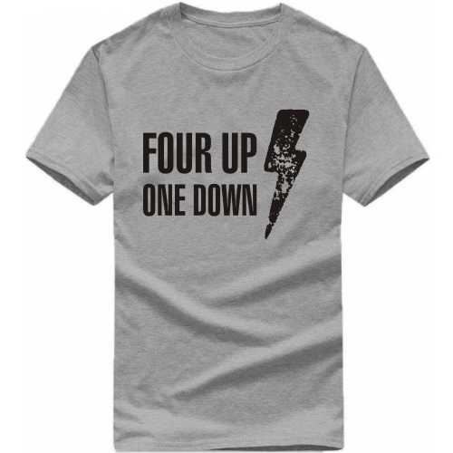 Four Up One Down Biker Slogan T-shirts image