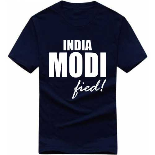 India Modified Slogan T-shirts image