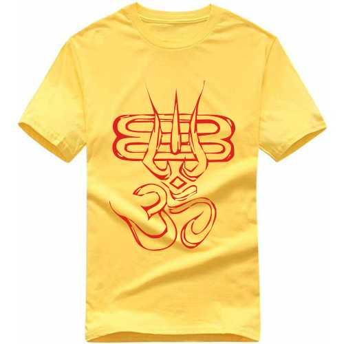 533598e268b Om Thrishul Slogan T-shirts