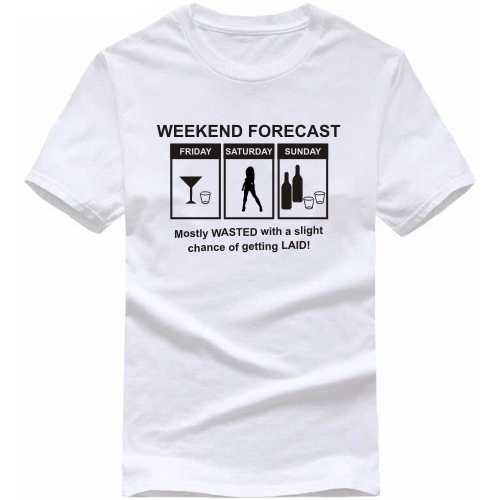 778765f20 Buy Weekend Forecast Explicit Slogan T-shirts T-Shirts for Men ...