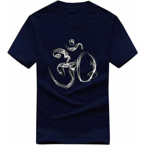 e7cec8fc31 Smoking Om Symbol Ohm Lord Shiva Hindu Devotional Slogan T-shirts